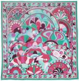 Emilio Pucci Maxi Nigeria Print Silk Voile Scarf