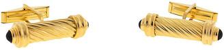 One Kings Lane Vintage 14K Gold & Onyx Cabochon Cuff Links - BRP Luxury/OKL