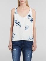 Calvin Klein Indigo Tie-Dye Cropped Tank Top