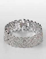 Silvertone Crystal Pavé Bangle Bracelet