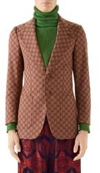Gucci GG Cotton Blend Blazer