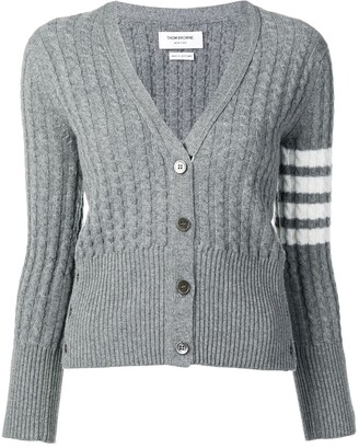 Thom Browne 4-Bar baby cable cashmere cardigan