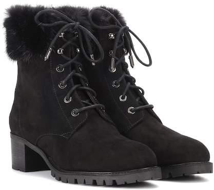 Aquazzura Mont Blanc 40 suede ankle boots