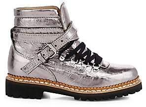 Tabitha Simmons Women's Neela Metallic Leather Combat Boots