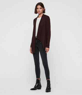 AllSaints Drina Rib Back Cardigan