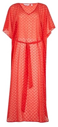 Dorothy Perkins Womens Dp Beach Red Tie Maxi Beach Cover Up, Red