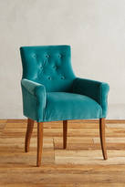 Anthropologie Velvet Abner Armchair