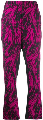 No.21 Block Print Tailored Trousers
