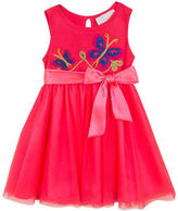 Rare Editions Baby Girls Embroidered Butterfly Dress