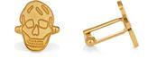 Alexander McQueen Flat-skull brass cufflinks