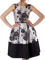 Closet Floral Belted Dress, Multi