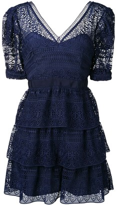 Self-Portrait Lace Ruffled Dress