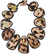 Viktoria Hayman Resin Statement Collar Necklace, Leopard