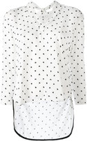 Paul Smith star print V-neck top - women - Silk/Viscose - 40
