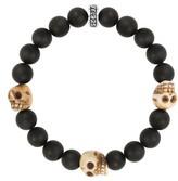 King Baby Studio Men's Onyx Bead Bracelet