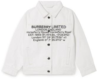 Burberry Kids Denim Logo Print Jacket