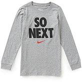 Nike Big Boys 8-20 So Next Graphic Long-Sleeve Tee