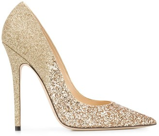 Jimmy Choo Glitter Embellished 125mm Stiletto Heels