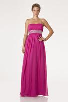 JS Boutique 263651 Rhinestone Embellished Ruched Strapless Dress