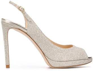 Jimmy Choo Nova 100mm glitter sandals