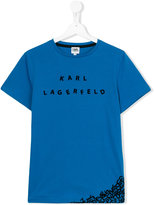 Karl Lagerfeld letter scramble print T-shirt - kids - Cotton - 14 yrs