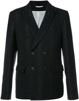 Ann Demeulemeester double breasted blazer - men - Cotton/Polyamide/Polyester/Wool - XS