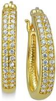 Giani Bernini Cubic Zirconia Pavandeacute; Hoop Earrings in 18k Gold-Plated Sterling Silver, Created for Macy's