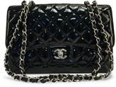 Chanel Black Patent Leather Jumbo Single Flap Bag