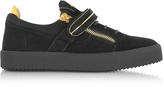 Giuseppe Zanotti Black Suede Low Top Men's Sneakers