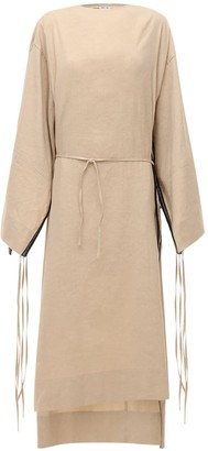 Ambush Linen Midi Dress W/ Cape