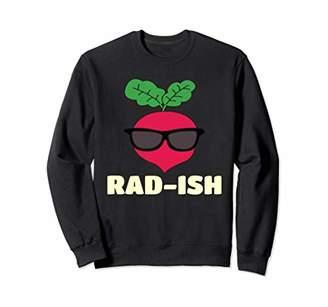 Rad-ish Funny Cool Radish with Sunglass Food Pun T Shirt Sweatshirt
