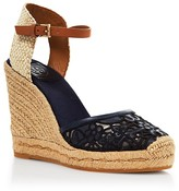 Tory Burch Platform Wedge Espadrille Sandals - Lucia Lace