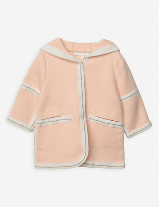 Chloé Metallic-trim knitted hooded jacket 6 months - 3 years