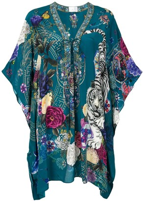 Camilla Lunar Gazing Lace Up kaftan