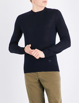 Armani Jeans Contrast panel knitted wool-blend jumper