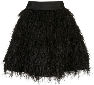 Alice + Olivia Alice+Olivia Cina feathered mini skirt