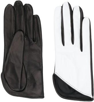 Manokhi Textured Two-Tone Gloves