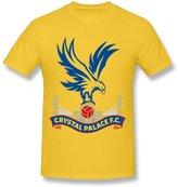 Cherish Tee Men's Crystal Palace Fc Logo T-shirts Casual Size XL Yellow