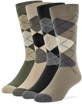 Galiva Men's Cotton Argyle Dress Socks - 4 Pairs
