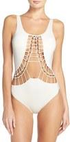 Dolce Vita Women's Macrame Cutout One-Piece Swimsuit