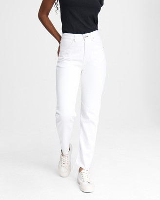 Rag & Bone Engineer high-rise sraight - worn white