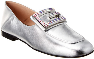 Gucci G Applique Metallic Leather Loafer