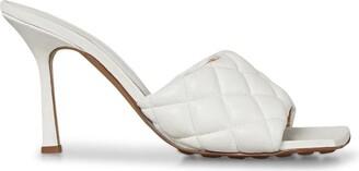 Bottega Veneta Leather Padded Mules 90