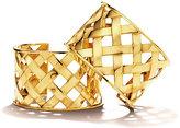 Verdura 18K Yellow Gold Crisscross Cuff Bracelet