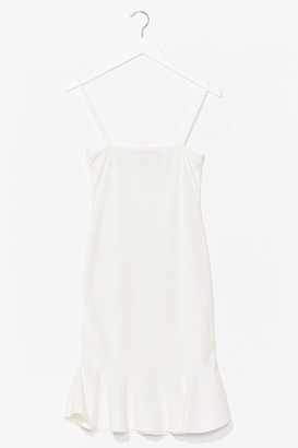 Nasty Gal Womens Square Neck Ruffle Mini Dress - Cream