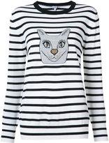 Loewe cat stripe sweater - women - Viscose/Metallic Fibre/Wool - M