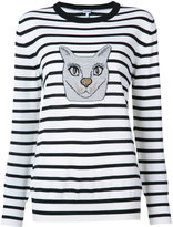 Loewe cat stripe sweater - women - Viscose/Wool/Metallic Fibre - M