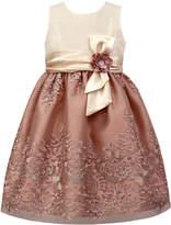 Jayne Copeland Mauve & Ivory Lace-Overlay A-Line Dress - Toddler & Girls