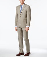 Lauren Ralph Lauren Men's Classic-Fit Ultra-Flex Tan Glen Plaid Suit
