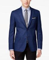 DKNY Men's Slim-Fit Blue Windowpane Wool Sport Coat